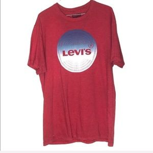 Levi's red short sleeve graphic tee L